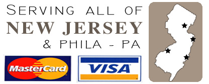 Accepted payment: Mastercard, Visa, Check & Cash. Proudly Serving All of NJ and Eastern Pennsylvania